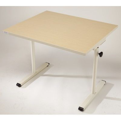 Populas Adjustable Training Table Base Finish: Graphite Silver, Finish: American Maple
