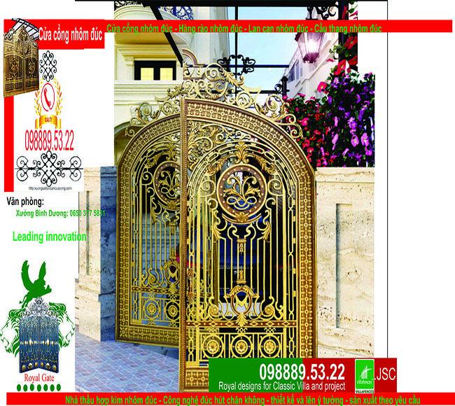 Cửa cổng nhôm đúc top theo danh mục ảnh được tối ưu về mặt hình ảnh rõ nét, sản phẩm cua cong nhom duc top RoyalGate được thiết kế đứng đầu Google, facebook