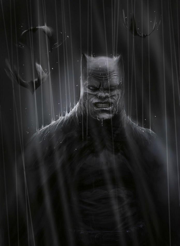 Bruce Wayne: senior citizen and still kicks major ass. Dark Knight Returns, by Adnan Ali.