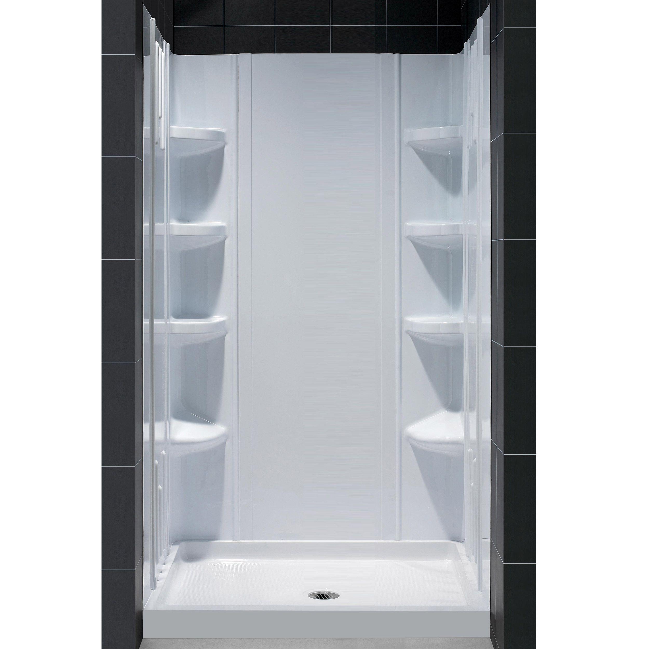 DreamLine Fiberglass Reinforced SlimLine Single Threshold Shower