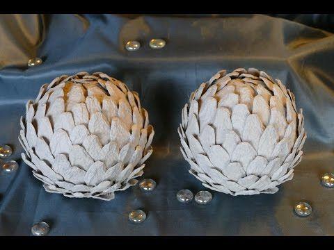 Kugeln basteln mit Eierwaben - Wohndeko - Recyclingbasteln– sehr einfach - YouTube
