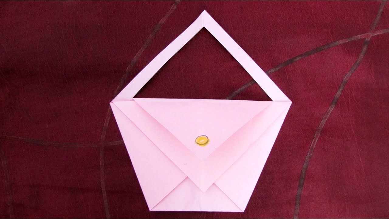 Origami facile : Sac