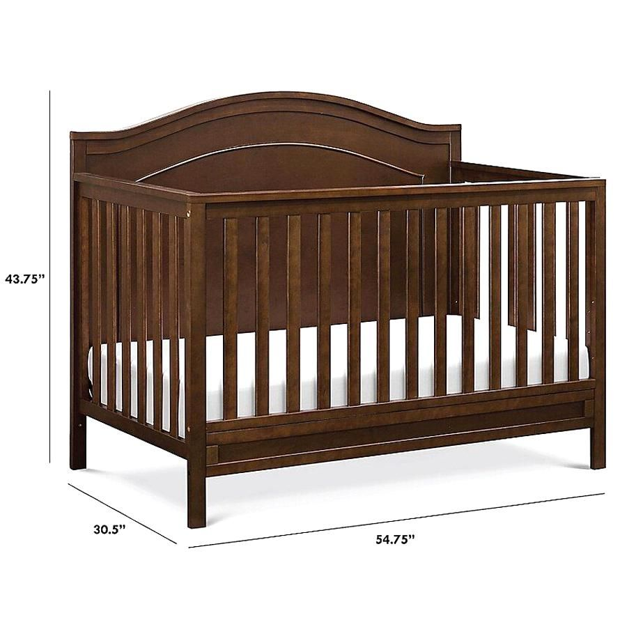 Davinci Charlie 4 In 1 Convertible Crib In Espresso Upgrade Your Nursery With The Classic Design Of The Davinci In 2020 Convertible Crib Full Size Bed Classic Design