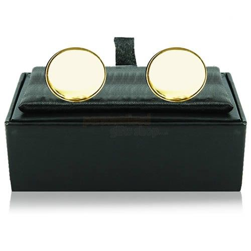 Engraved Gold Plated Round Cufflinks  from Personalised Gifts Shop - ONLY £17.95