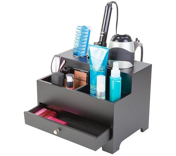 Personal Hair Organizer Caddy Qvc Com In 2020 Hair Tool Organizer Hair Product Organization Hair Appliances