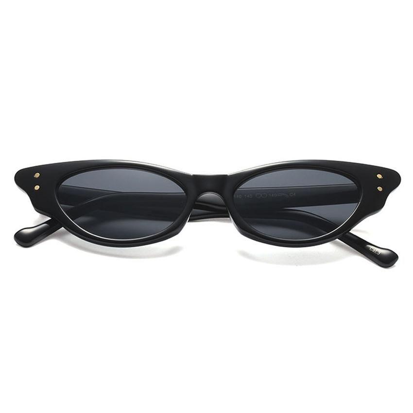 fcb04f7669 Peekaboo cute sexy retro cat eye sunglasses women small black red purple  rivet cat eye shades for women female 2018 uv400