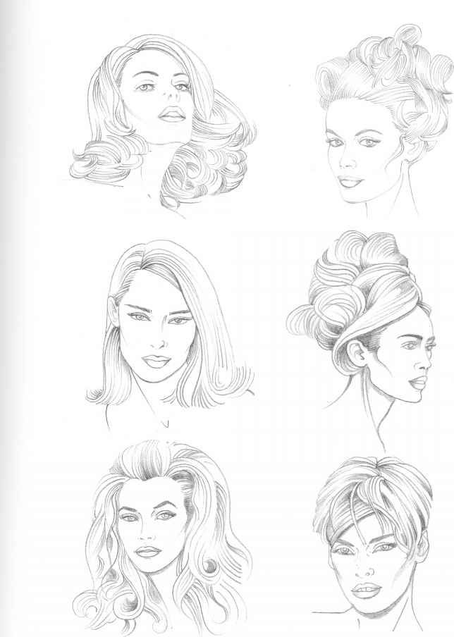 Drawing Hairstyles Hair Sketch How To Draw Hair Hair Illustration