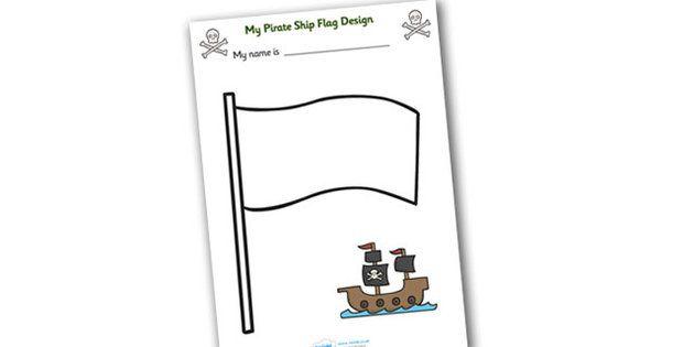 Design Your Own Ship Flag Worksheet - worksheets, worksheet, flag