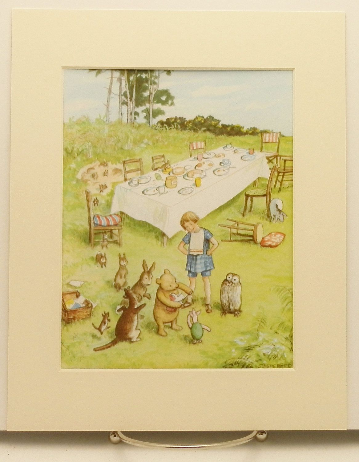Winnie the Poohs Birthday Party Print w/Mat, Vintage & Classic, Baby ...