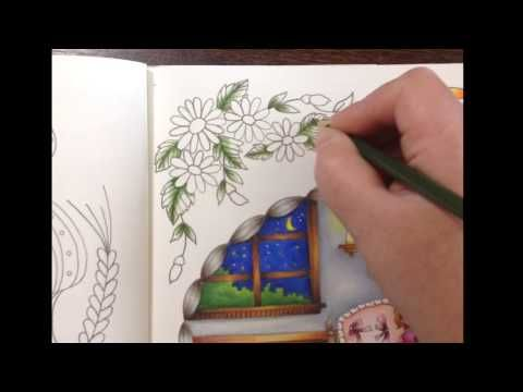 Romantic country - tutorial part 5 - prismacolor pencils - YouTube