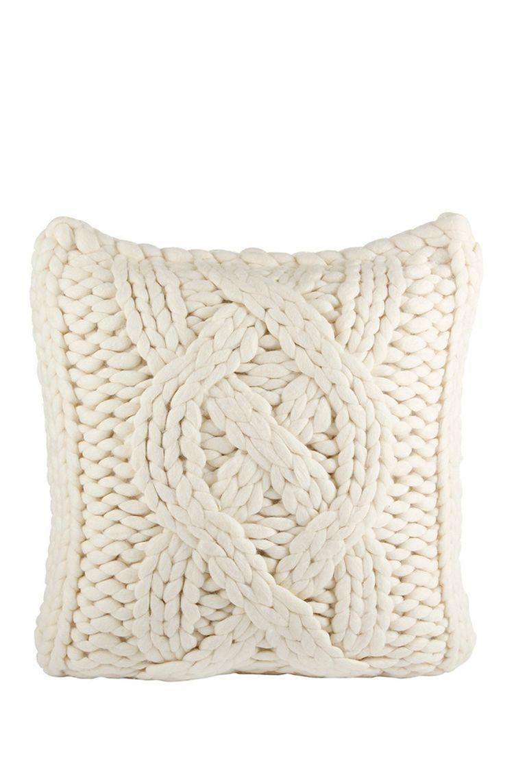 UGG Australia | Oversized Natural White Wool Blend Knit Pillow ...