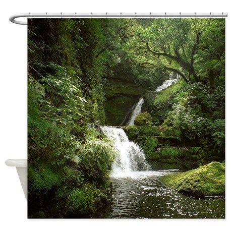 Mclean Falls Nz Shower Curtain By Topsellersbyskystudio Curtains