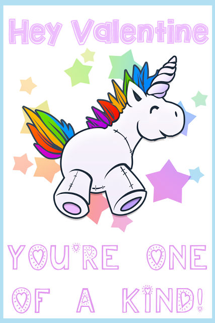 image relating to Free Printable Unicorn Valentines called Instant Possibilities Lady - a Miami relatives and daily life website