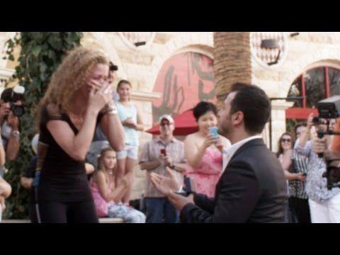 Best wedding proposal flashmob marry you