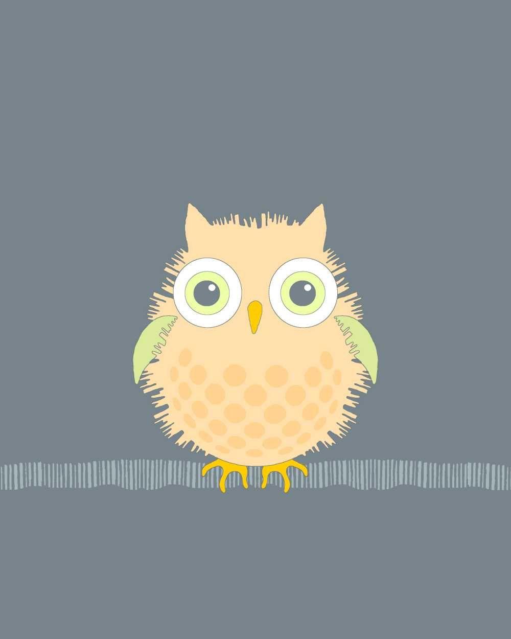 5x7 Owl art print, nursery, bird illustration, children wall art ...