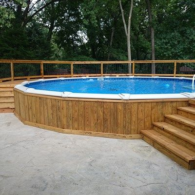 Pressure Treated Deck Picture 5244 Best Above Ground Pool Above Ground Pool Landscaping Pool Deck Plans