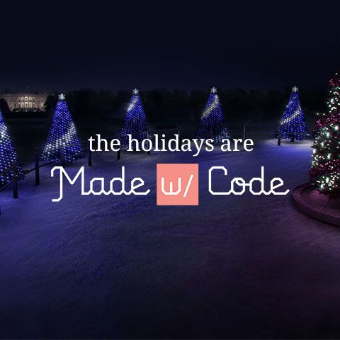 this holiday season girls across the country are using code to light up the holiday