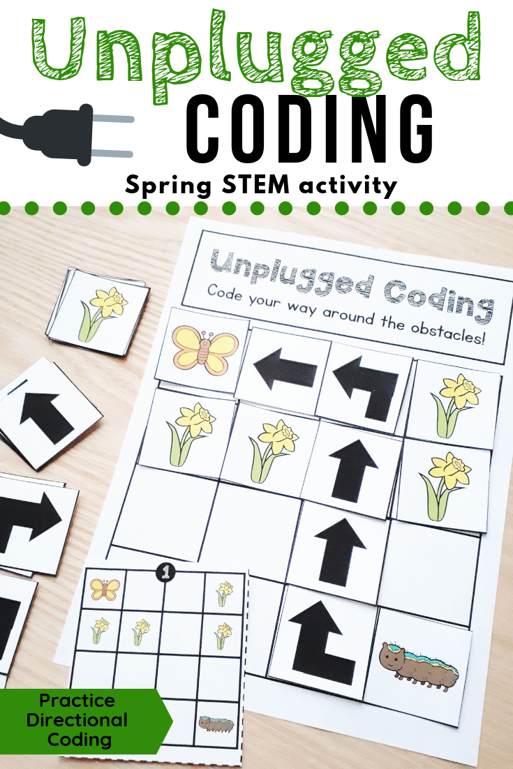 Spring Unplugged Coding Activity For Beginners English And French Unplugged Coding Activities Kindergarten Coding Teaching Coding [ 1102 x 735 Pixel ]