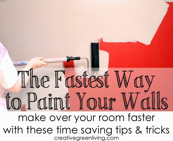 Ways to make painting your walls go faster. Lots of great tips and products you may not know about.