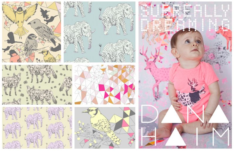 Lovely #wallpaper by Dana Haim via Kinderkamerstylist.nl