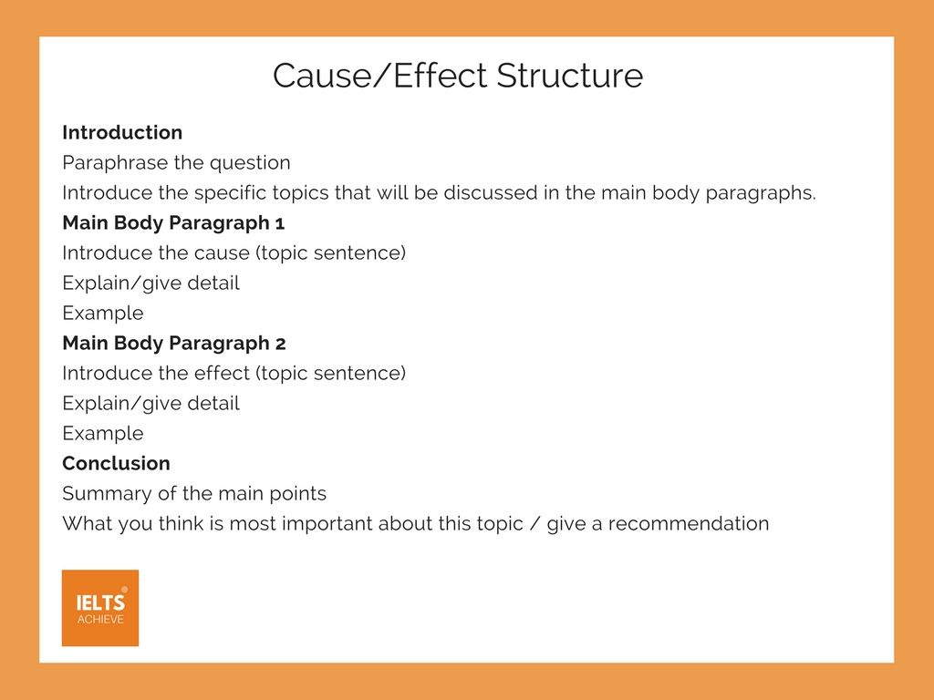 cause and effect structure