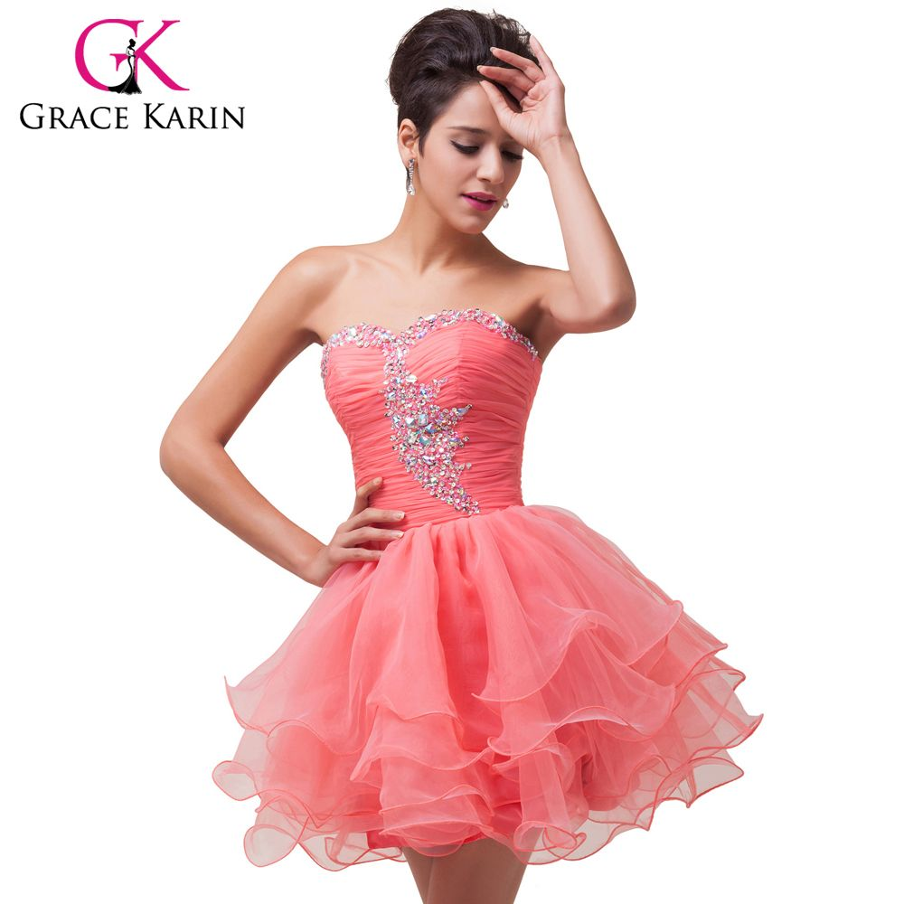 sizes 2-16 Black Green Pink Purple Girls Ball Short Cocktail Dresses ...