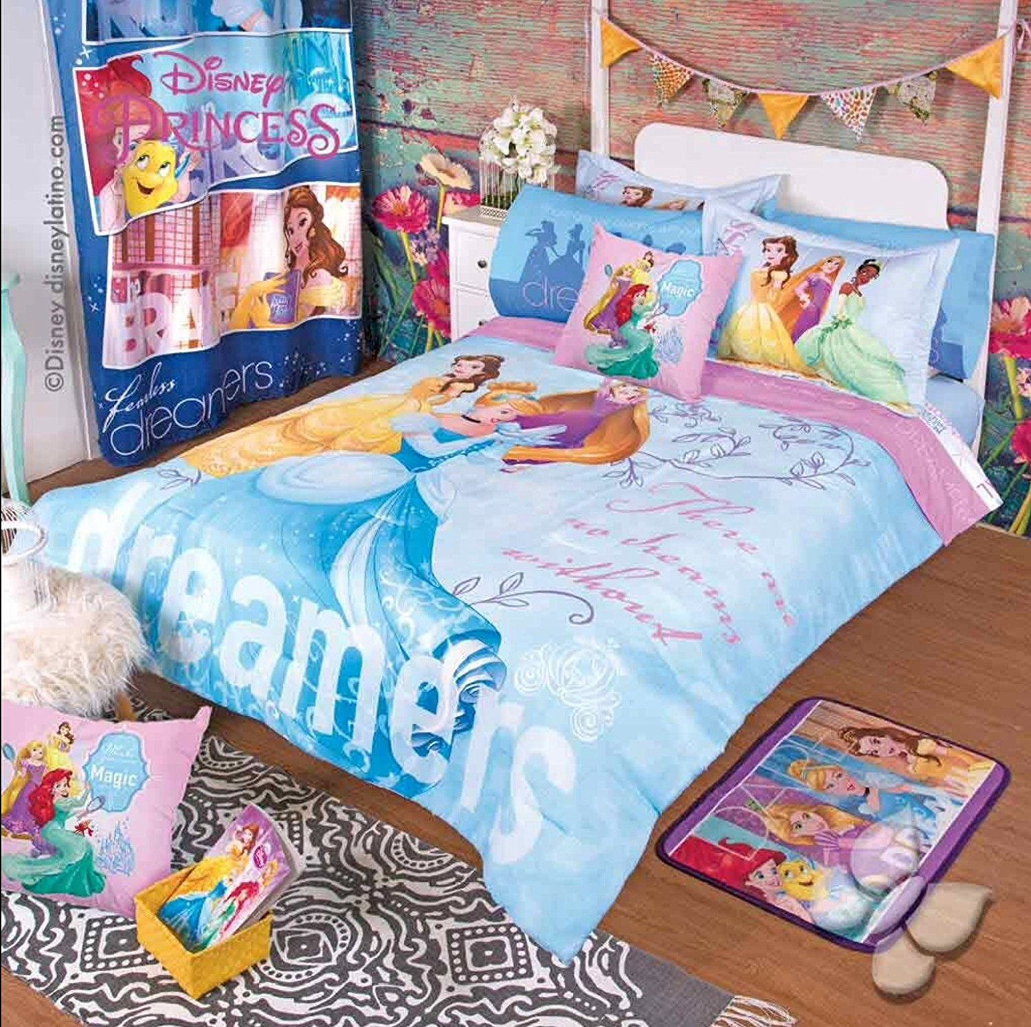 Princess Beautiful Disney Original Comforter Set 9 Pcs Queen Only 192 Princess Comforter Comforter Sets Queen Comforter Sets