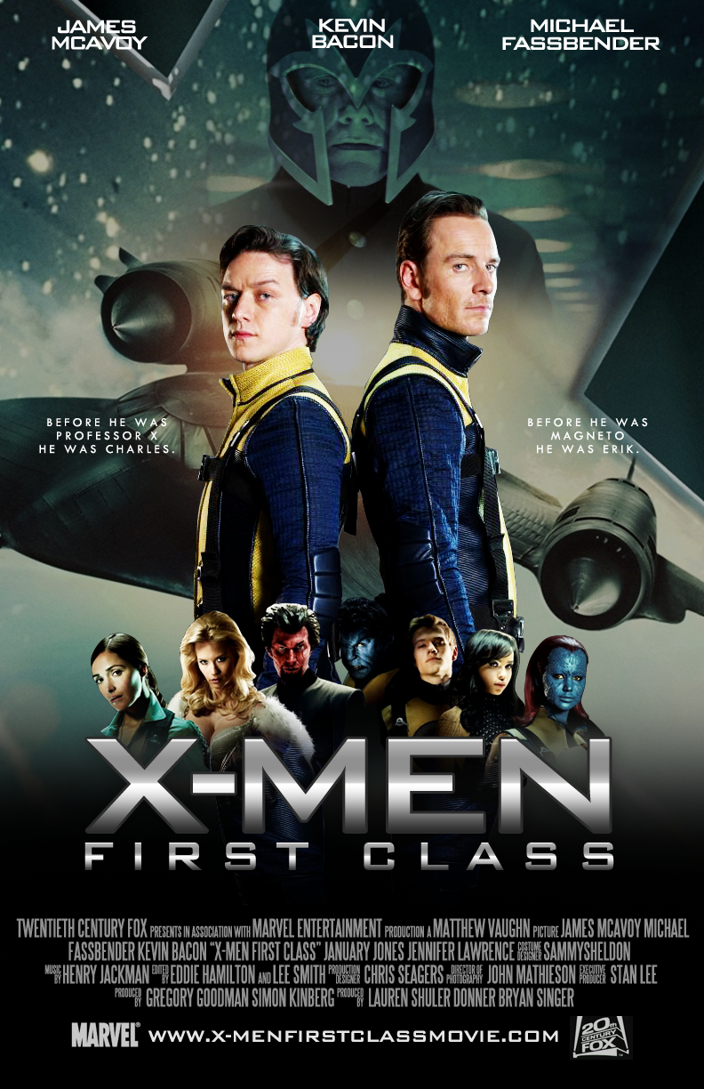 XMen First Class movie poster (made on My