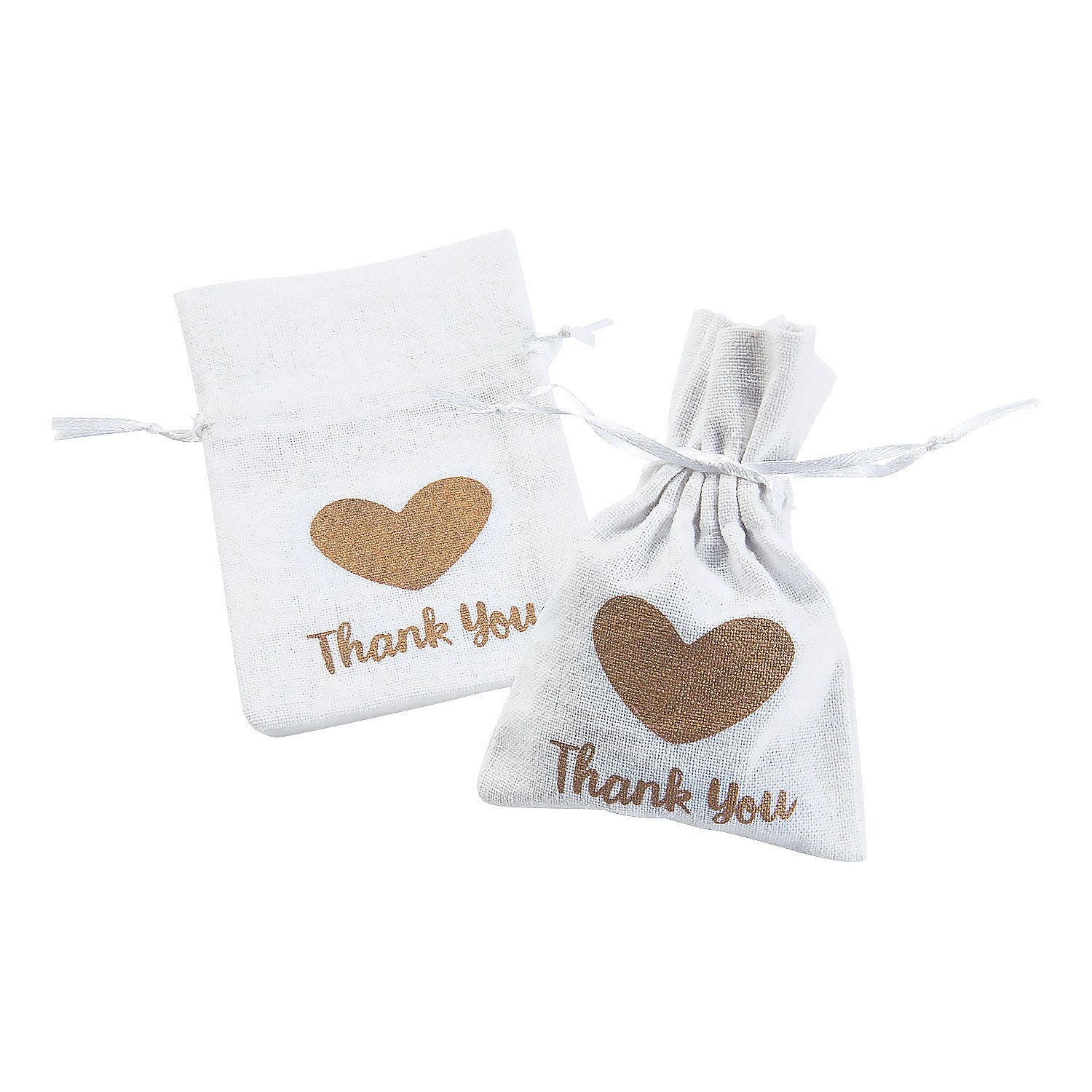 Small Thank You Drawstring Fabric Favor Bags | Favor bags, Favors ...