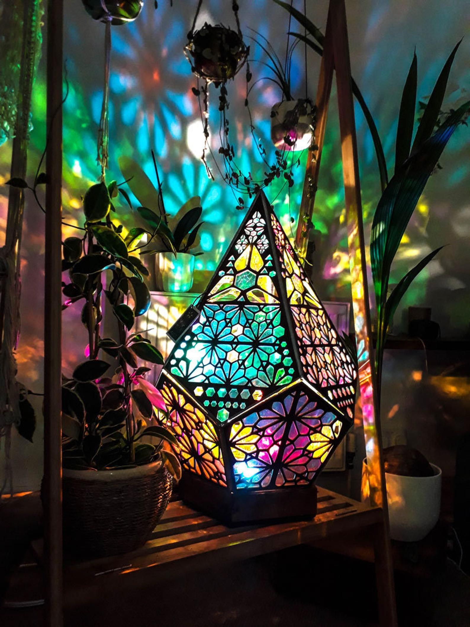 Floor Lamp  Bohemian Light  Gifts For Her Bohemian Decor    Etsy
