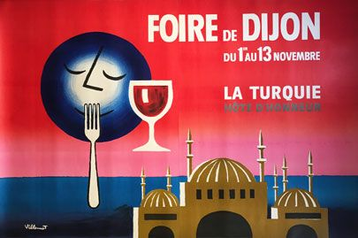 foire de dijon 2 sheet art for restaurants bars hotels offices vintage posters domed. Black Bedroom Furniture Sets. Home Design Ideas