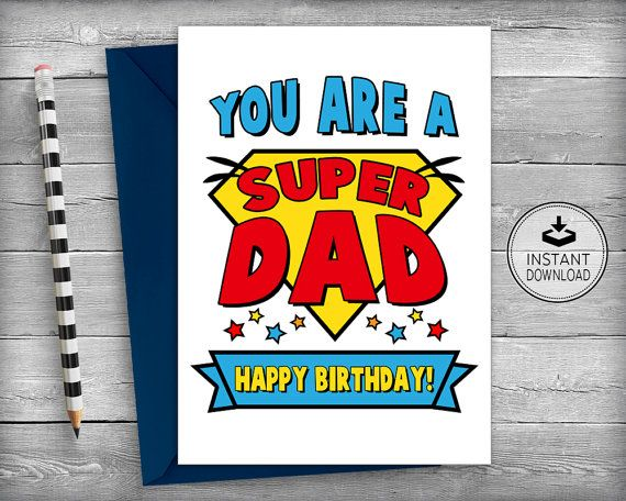 Dad Superhero Birthday Card