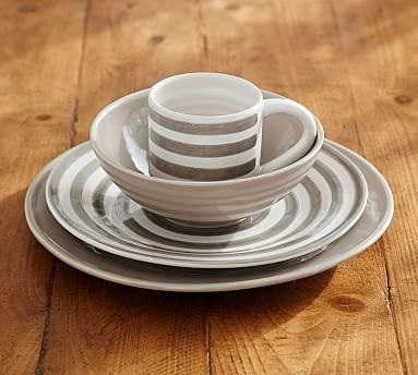 Reese Dinnerware Gray Set of 4 #potterybarn I love these dishes and the & Reese Dinnerware Gray Set of 4 #potterybarn I love these dishes ...