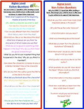 Parent Resource Fiction And Informational Questions To Ask Your