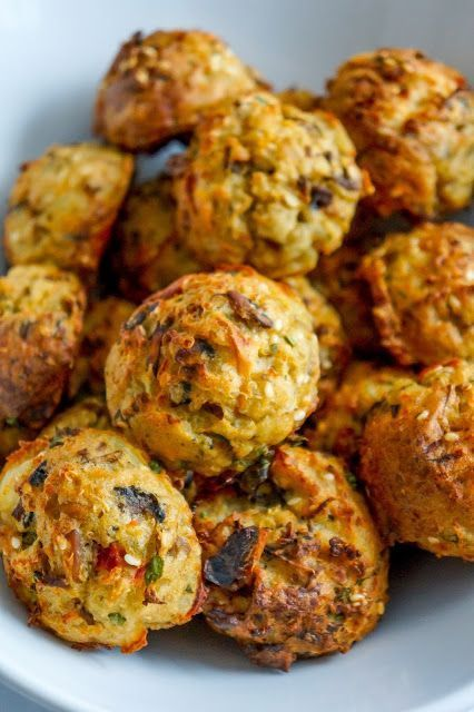 Photo of Mushroom, quinoa and red pepper veggie balls