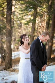 The first look, Right before he saw her, wedding photography, Bride and groom, the happy couple, wedding photography by Randall Olsson Photography