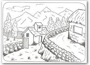Resultado De Imagen De Dibujos De Paisajes Bonitos Dibujos