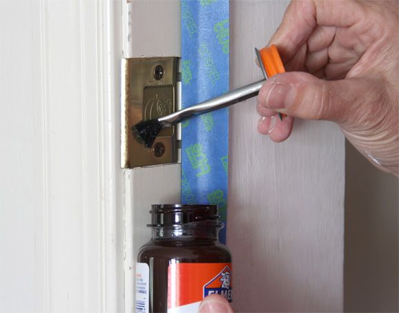 Once You Paint The Stairs And Risers White It Just Makes Your Door Look Dingy Learn How To Tackle Your Interior Do Household Hacks Rubber Cement Home Repair