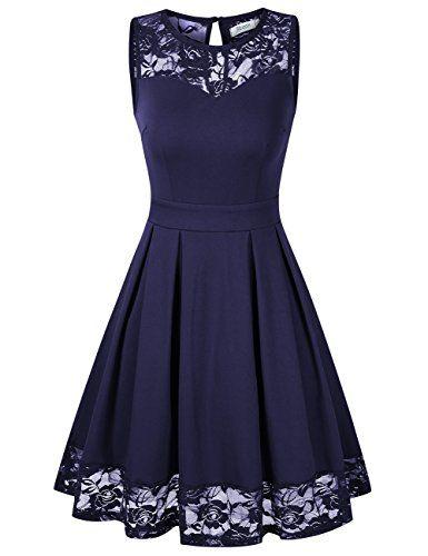 Cocktailkleid knielang blau