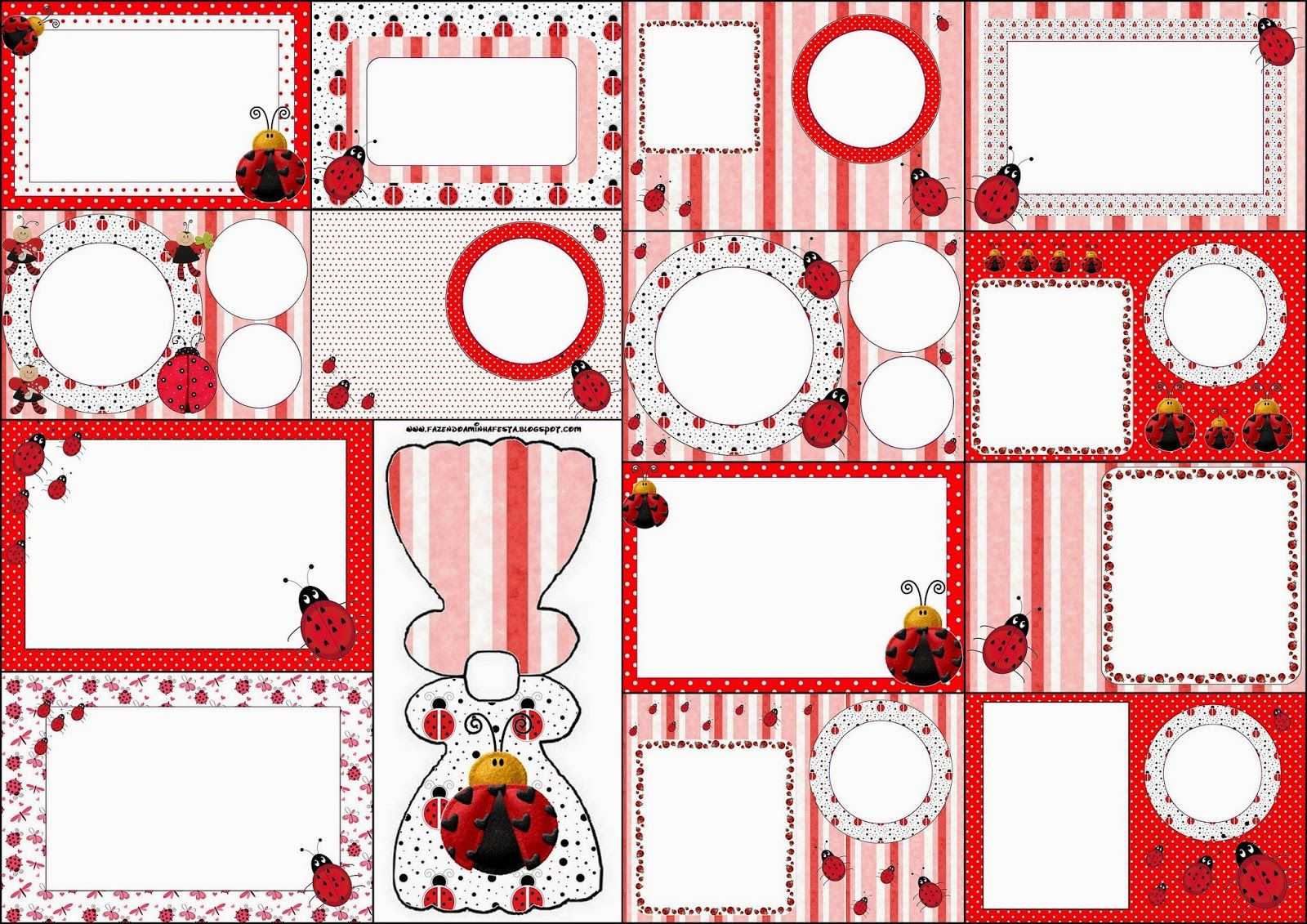 Ladybugs: Free Printable Invitations. | lady bugs and buzzy bee\'s ...