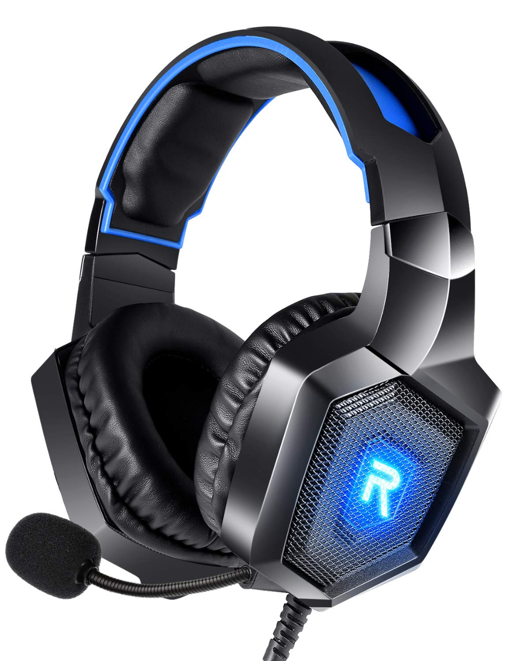 Runmus Gaming Headset Ps4 Headset With 7 1 Surround Sound Xbox One Headset W Noise Canceling Microphone Led Light Compatible With Ps4 Xbox One Switch Pc Xbox One Headset Gaming Headset Ps4