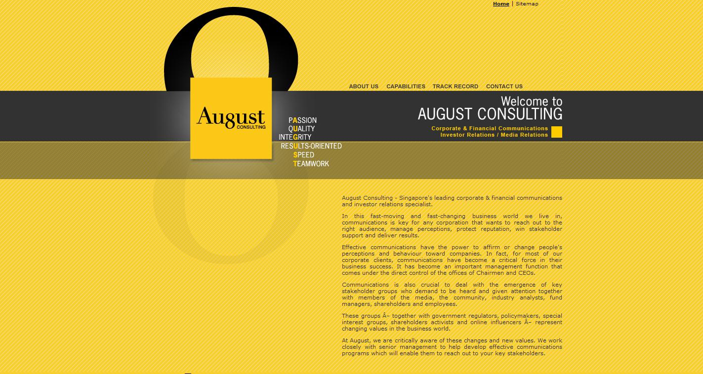 Typography Website Design Yellow And Black Duotone Colour Scheme Http Www August Com Sg Color Palette Design Website Design Color Schemes Colour Palettes
