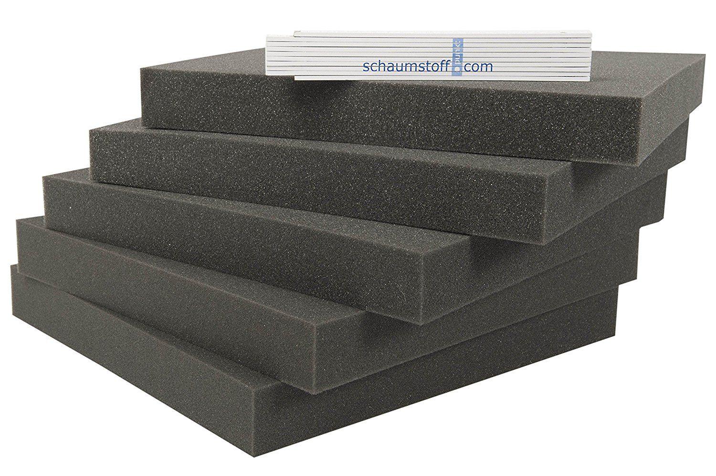 Schaumstoff Platten Set 5 Stk Je 40x40x4cm Polsterauflagen Amazon De Baumarkt Polsterauflagen Sets Schaumstoffplatten