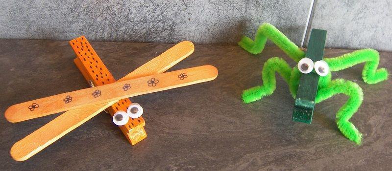 2 insectes avec une pince linge bricolage enfants bricolage bricolage enfant et bricolage. Black Bedroom Furniture Sets. Home Design Ideas