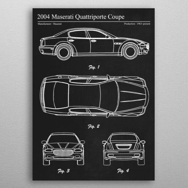 2004 Maserati Quattriporte by FARKI15 DESIGN | metal posters - Displate | Displate thumbnail
