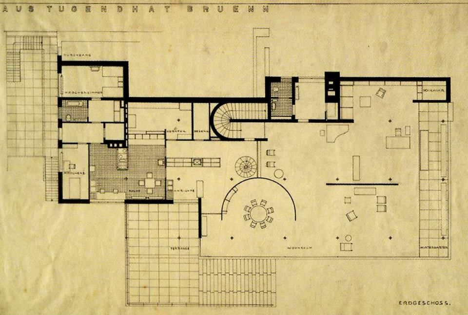 tgphipps lower floor plan villa tugendhat ludwig mies. Black Bedroom Furniture Sets. Home Design Ideas