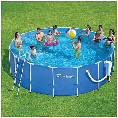 Summer Escapes Br 17 X 52 Metal Frame Pool With Ladder Pool Summer Waves Swimming Pools