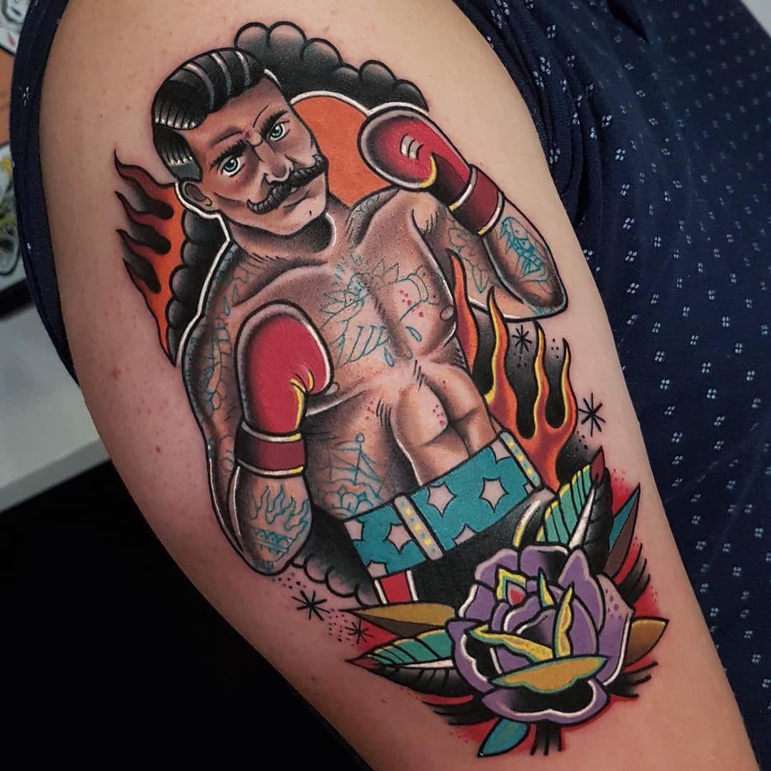 Eddie Czaicki S Traditional Tattoo Traditional Tattoo Traditional Tattoo Boxer Traditional Tattoo Sleeve