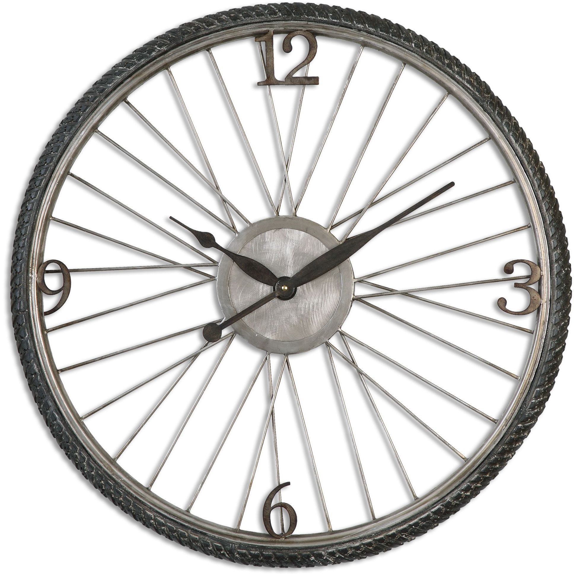 Uttermost Spokes Antiqued Wall Clock Spokes Wall Clock