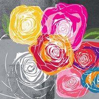 Framed Colorful Roses I